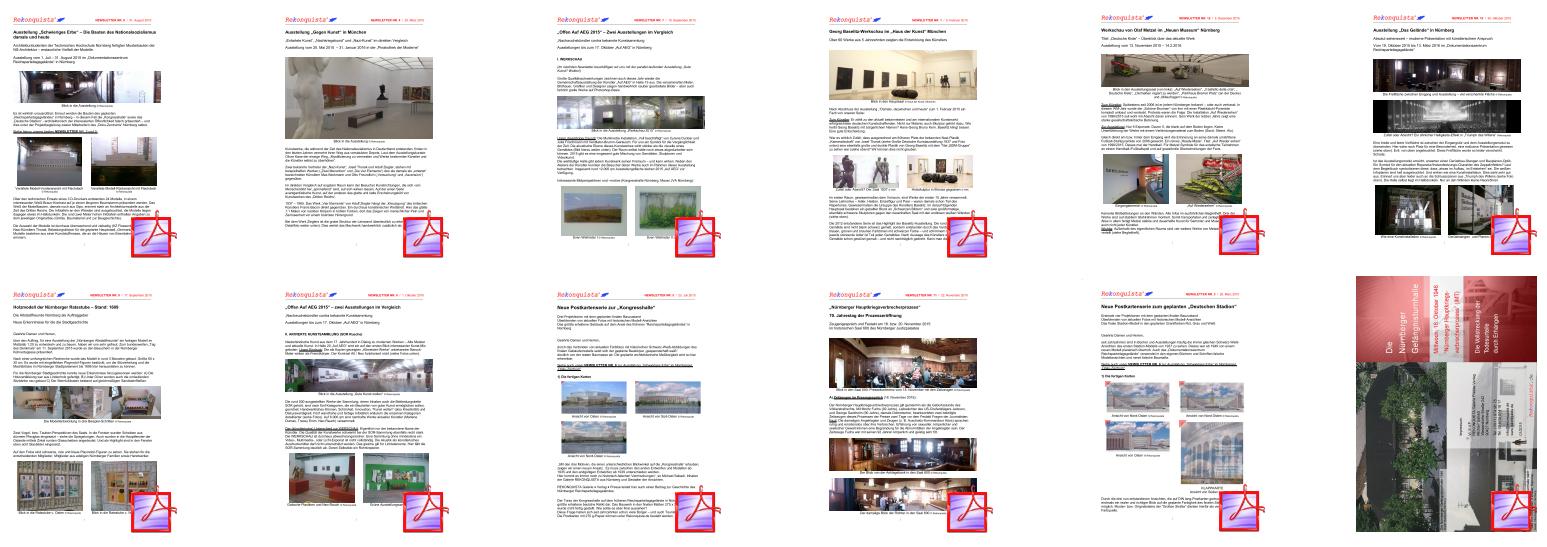 Newsletter Berichte 2015 alle Titel