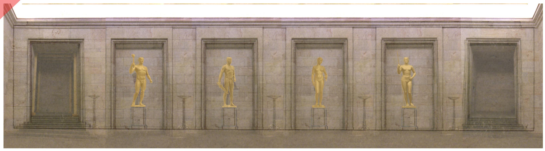 zeppelin field grandstand kurt schmid-ehmen golden hall four figures golden believe fight honour victory