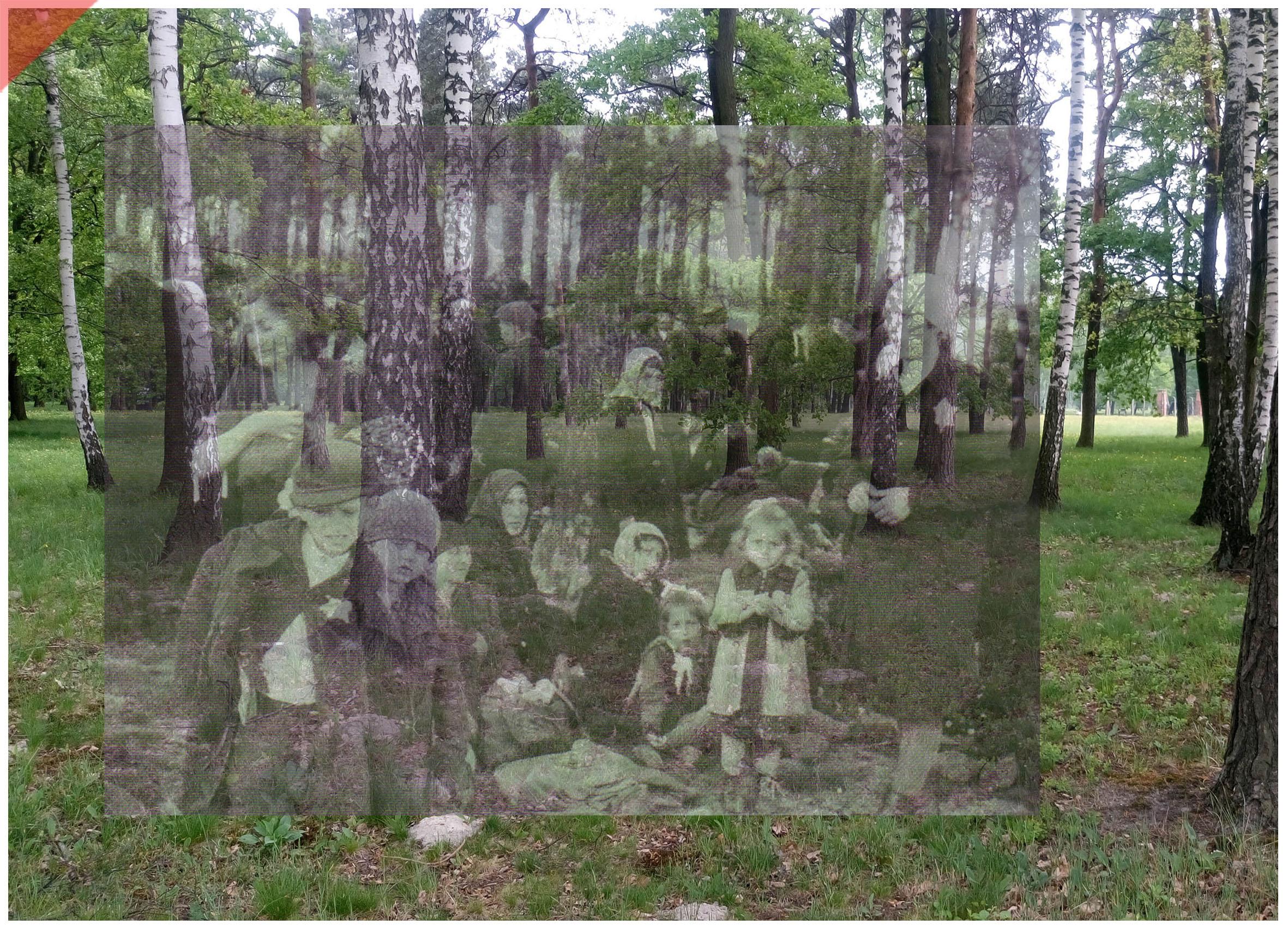 Auschwitz-Birkenau-Krematorium-4-IV-superimpose-now-then-1943-1944-Photo