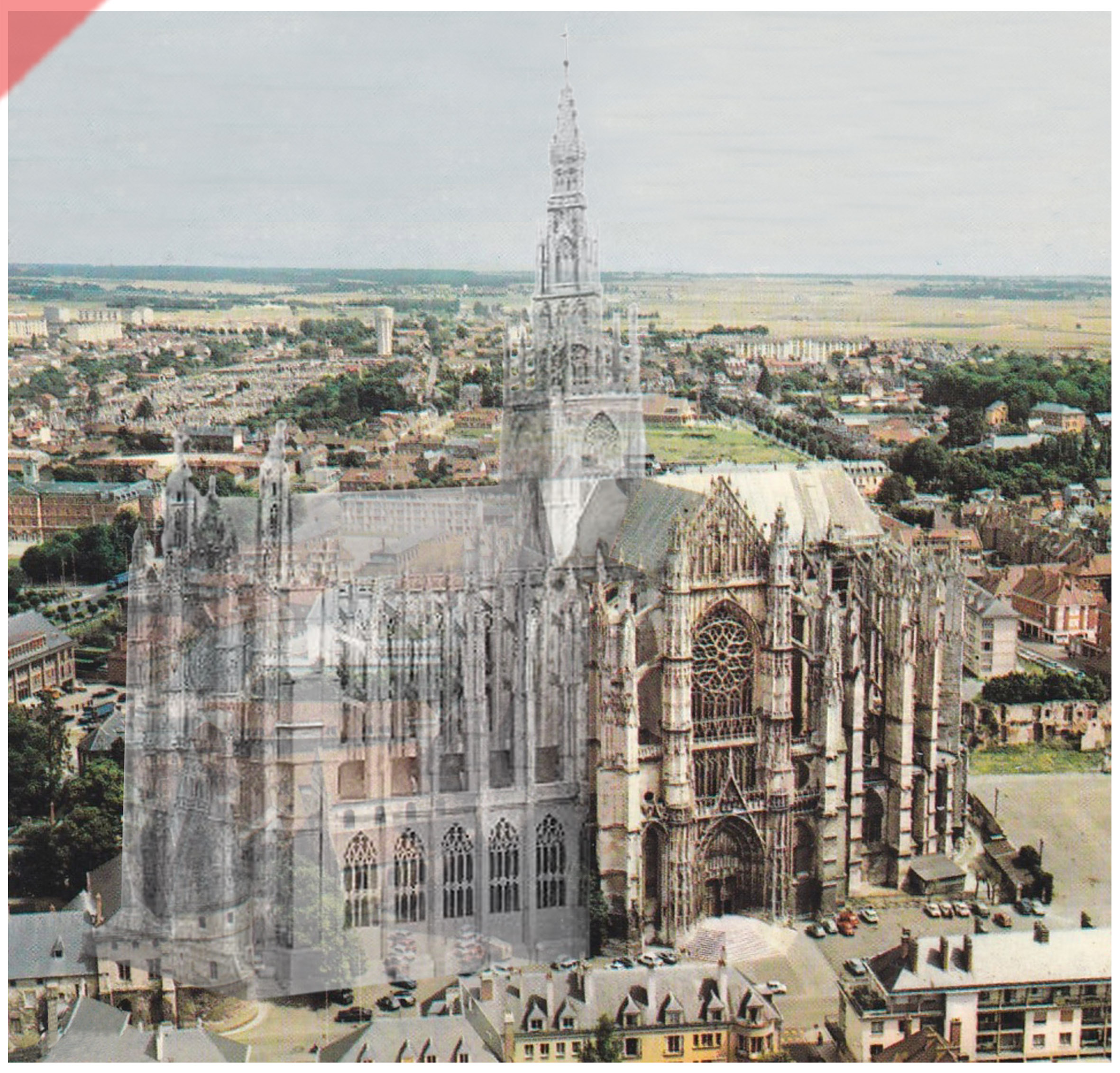 Cathédrale-Beauvais-vue-aerienne-façade-sud-façade-prévue-tour-1573-église-planifiée-Cathedrale-Beauvais-aerial-view-south-façade-geplante-façade-tower-1573-planned-kathedrale-church