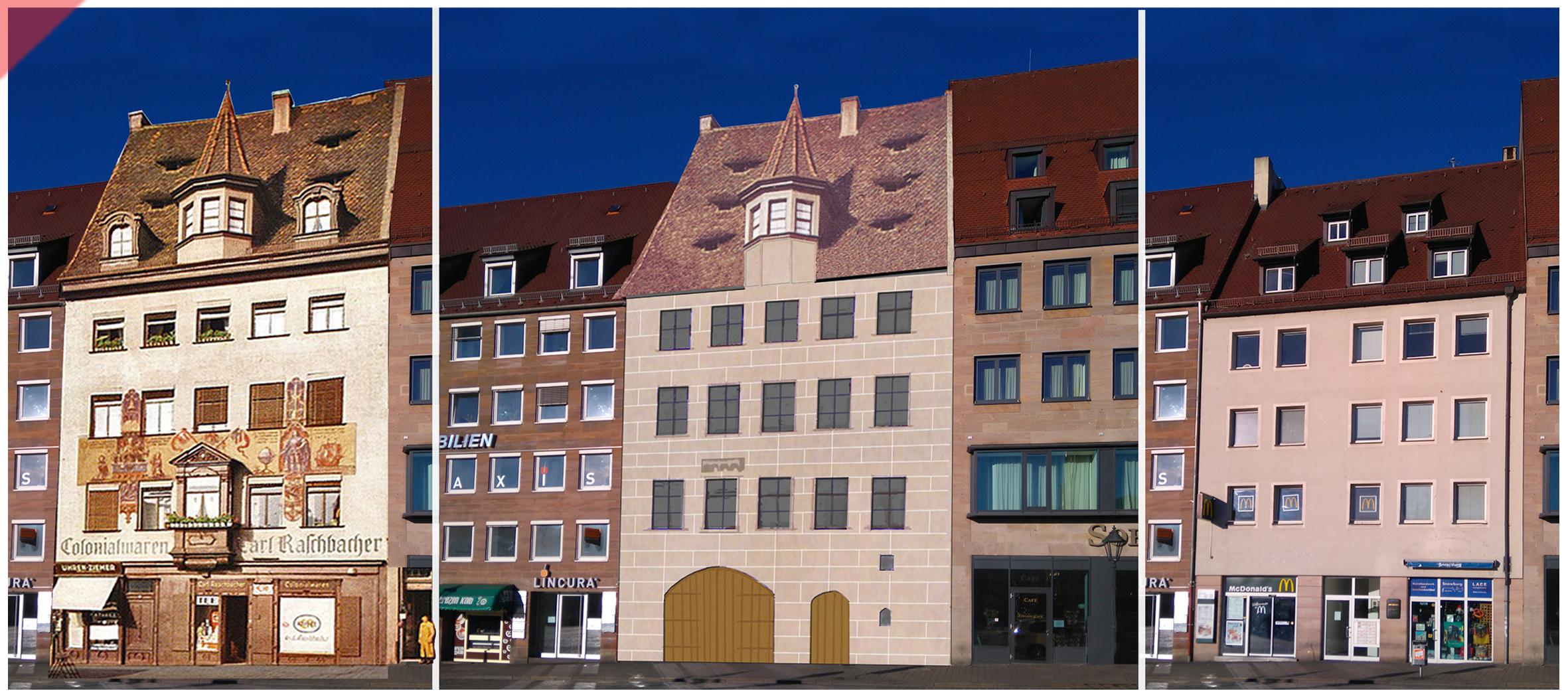 Heiltumsweisung-Nürnberg-Hauptmarkt-15-Schopper-Behaim-1424-1523-Rekonstruktion-Gebäude-3-Vergleich