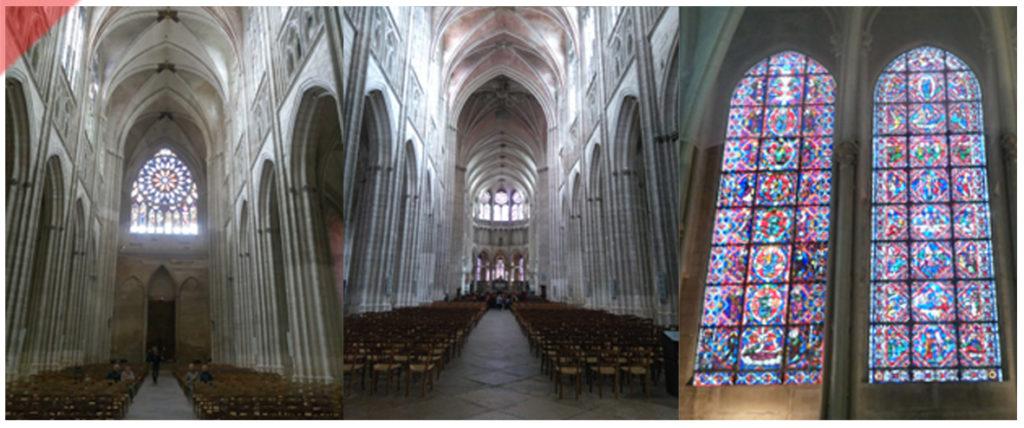 Auxerre-Kathedrale-Ansicht-innen-Fassade-geplant-gebaut-Damals-Jetzt