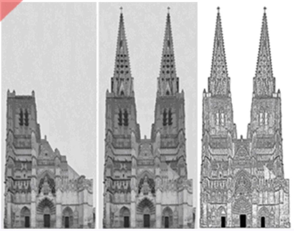 Auxerre-Kathedrale-Fassade-geplant-gebaut-Damals-Jetzt
