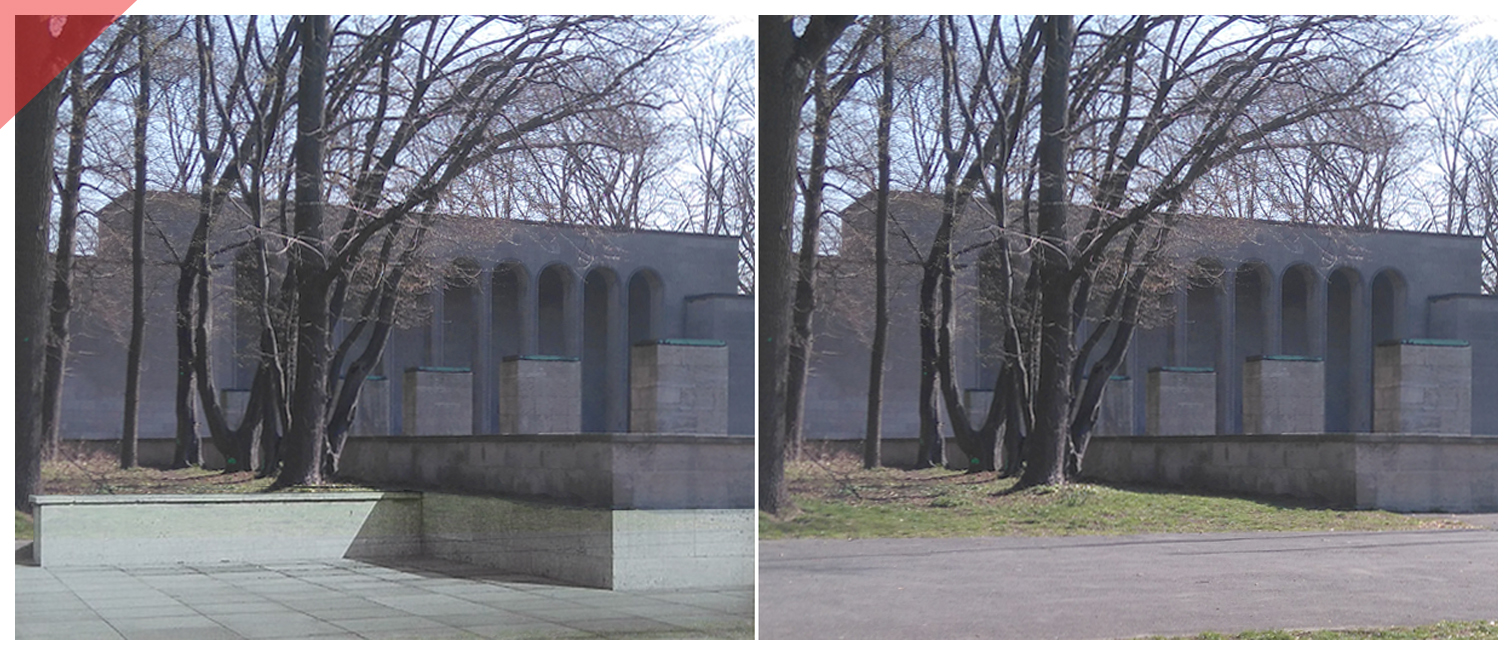 Luitpold-arena-Nuremberg-grandstand-Nazi-Party-Rally-Grounds-Hall-of-honor-Then-Now