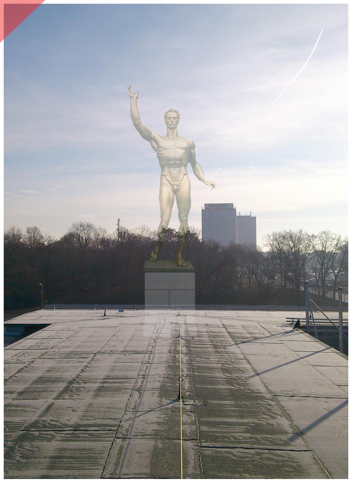 Zeppelin-field-grandstand-Nuremberg-sculptures-planned-figurine-Arno-Breker-1939-Seer-Readieness