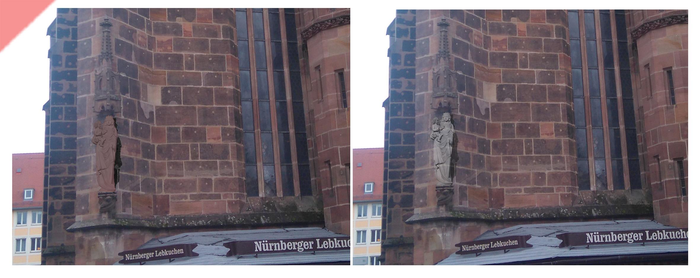 Frauenkirche-Liebfrauenkirche-Nürnberg-Maria-Jesuskind-Nordwest-Ecke