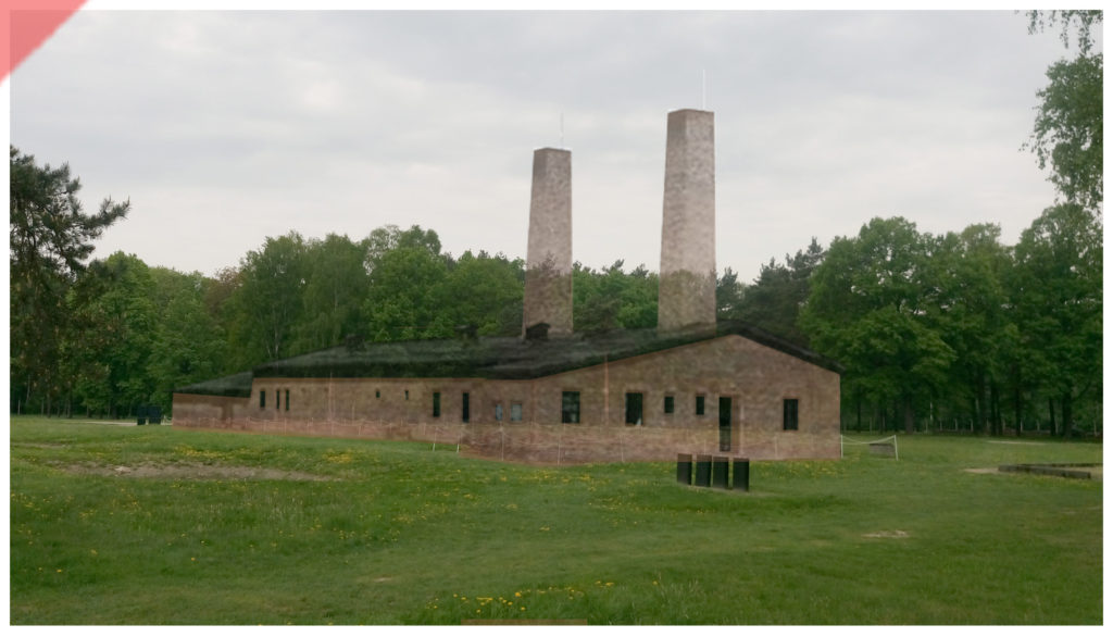 superimpose-now-then-in-color-colour-1943-1944-Auschwitz-Birkenau-Krematorium-crematorium-color-farbig-4-IV-Ueberblenden-then-now-comparison-Damals-Jetzt-Vergleich-1943-Foto