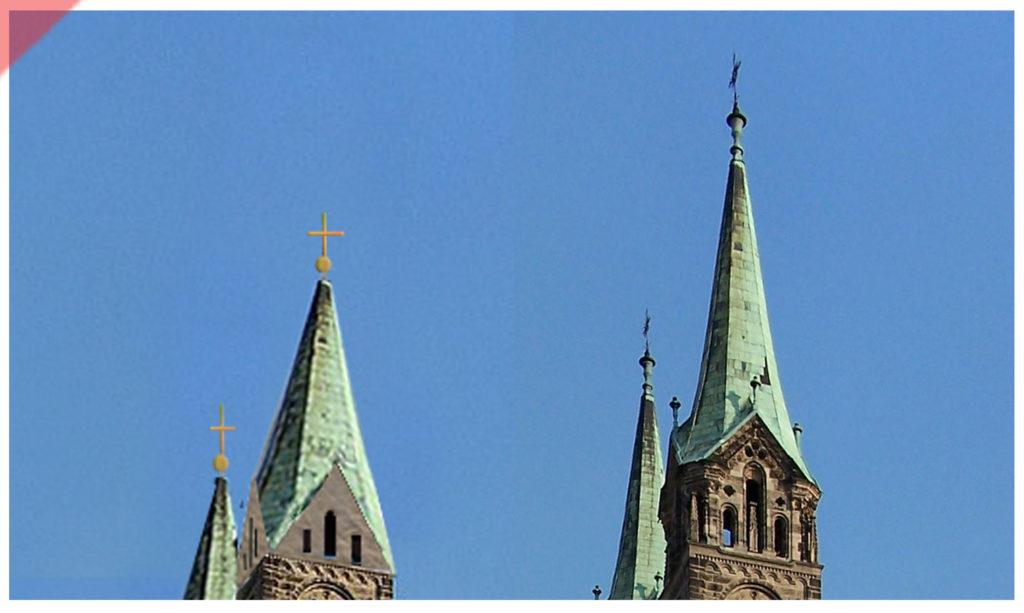 Bamberg-Dom-Türme-blei-ostseite-osten-vergleich-damals-jetzt-höhe-optik-Turmhelme-Mittelalter-Panorama-Nordseite