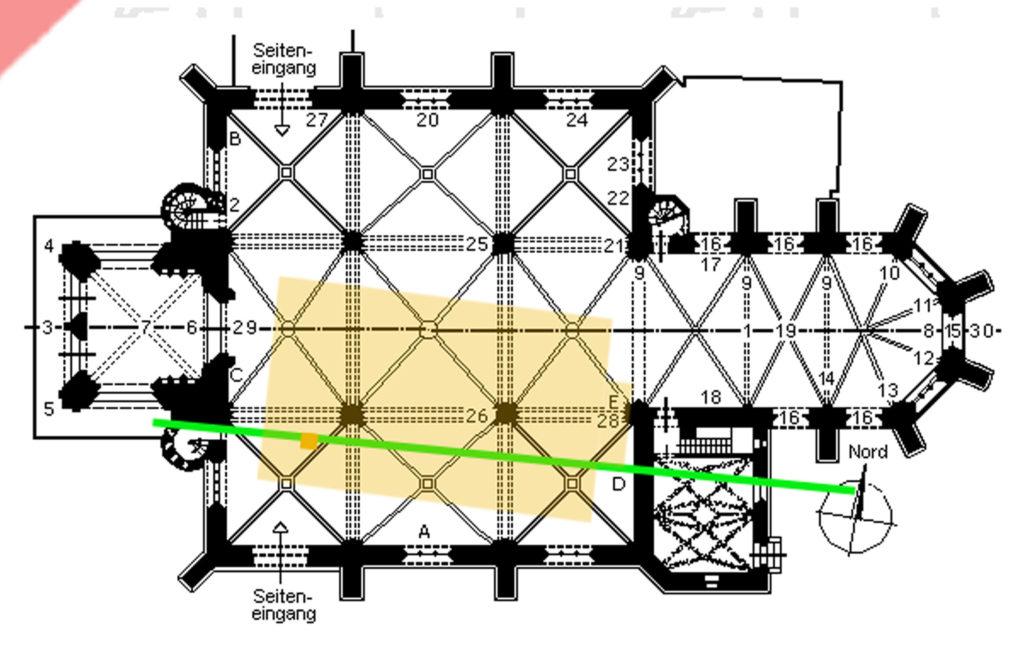 base-of-column-1986-size-direction-size-of-orginal-synagogue-south-south-east-discovered-found-synagogue-Nuremberg-Hauptmarkt-1349-Pogrom-Fundament-Säule-1986-entdeckt-ausgegraben-Synagoge-grösse-Ausrichtung-süd-süd-ost-eingemeißelt-original-Nürnberg-Hauptmarkt-1349-Pogrom-Frauenkirche